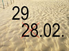 Leap year (Batikart) Tags: light shadow beach strand canon de licht sand europa europe pattern datum patterns number textures northsea date february nordsee schatten 2009 29th haan 2012 februar flanders belgien a610 leapyear begium canonpowershota610 2902 schaltjahr batikart westflandern 29022012