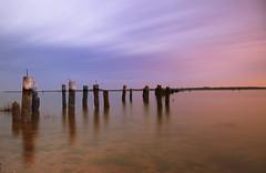 Poquoson, VA After Sunset (hallograph(Jake Hall)) Tags: sunset beach sunrise coast virginia pier coastal va roads hampton eastern poquoson tidewater