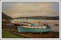 Boats at Bideford (Audrey A Jackson) Tags: trees sky texture water clouds landscape boats colours devon bideford canon450 mygearandme ringexcellence flickrstruereflection1