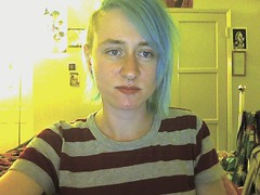 365days: April 15th self-portrait (babymanji) Tags: selfportrait girl webcam bluehair manicpanic sidecut undercut 365days gpoy