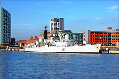 HMS Liverpool. (Elaine 55.) Tags: ferry liverpool colours mersey rn hmsliverpool