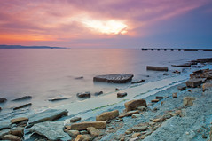 Yet another sunset (Alja Vidmar | ADesign Studio) Tags: longexposure sunset sea water clouds sherpa 200r cokin velbon ndfilter gnd nd4x nd8x
