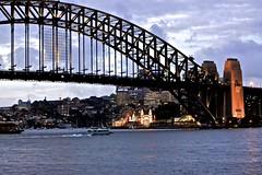 Harbour Bridge (oxfordblues84) Tags: bridge sky water clouds au sydney australia pylon nsw newsouthwales sydneyharbourbridge lunaparksydney thecoathanger