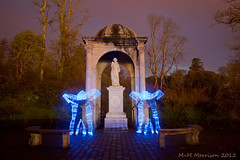A Ghostly Memorial (M+M Morrison) Tags: nightphotography blue light lightpainting night canon dark painting memorial paint glow sigma led ghosts 1020mm isleoflewis sigma1020mm 500d v24 canon500d lenser lightjunkies