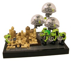 Space Invaders (Bart De Dobbelaer) Tags: lego space alien ufo vignette sandbox bullies