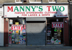 Mannys Two, East Ham High Street E12 (Emily Webber) Tags: london shops shopfronts newham e12 easthamhighstreet londnshopfronts