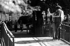 A photo of us (Niccol Caranti) Tags: boy shadow blackandwhite italy parco love girl kiss couple italia candid ombra streetphotography saturday ponte april trento aprile stazione amore trentino bacio biancoenero autoscatto giardini ragazza coppia papere ragazzo piazzadante caldo sabato stagno mercatinodeigaudenti nikond700 dsc9133