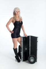HiFi Matti (Theresa ☆) Tags: sexy fashion glamour sub blonde heels latex blackdress caramplifier christinmattilakkenrøde