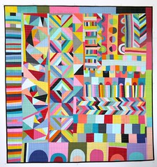 finished! (lusummers) Tags: abstract color colour quilt sewing fabric quilting colourful improv patchwork multicolour luciesummers