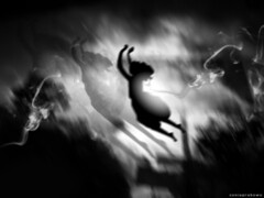 i'll just catch you in my dreams... (Sonia Prabowo) Tags: shadow bw woman art mood moody dream surreal