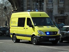 East of England Ambulance (kenjonbro) Tags: uk london westminster trafalgarsquare mercedesbenz charingcross 2010 sw1 cdi 519 sprinter eastofenglandambulanceservice kenjonbro fujifilmfinepixhs10 fujihs10 ay60bhp