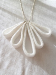 white felt necklance 2012 (szilviaszabo91) Tags: white felt jewerly necklance