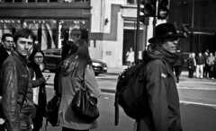 (Nathan O'Nions) Tags: road street portrait england people building male london photography crossing looking onlooking