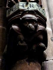 Freiburg - Muenster (Martin M. Miles) Tags: germany monkey twins ape breastfeeding freiburg minster muenster schwarzwald suckling blackforrest badenwuerttemberg silvermining zaehringen unsererliebenfrau zaehringer