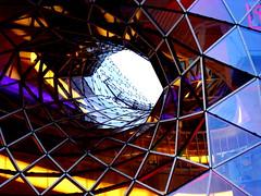 weies loch II (misone2000) Tags: blue frankfurt himmel center moderne architektur palais loch escher dach glas zeil quartier geometrie massimiliano konstruktion fuksas offen whool myzeil misone2000