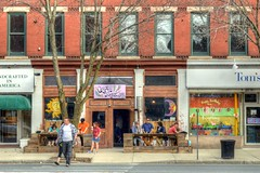 Main Street - Great Barrington (Geoffrey Coelho Photography) Tags: life street city people urban usa streets building brick classic shop architecture america buildings person town store mainstreet exterior candid massachusetts scenic newengland scene architectural sidewalk american views shops persons stores streetscape smalltown nineteenthcentury berkshirecounty gratbarrington