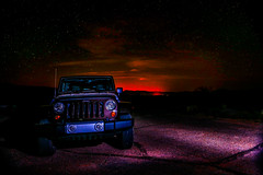 My Jeep at Night (Eric Gofreed) Tags: jeep citylights desertnightscene