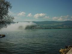 Expo.02 / Yverdon-les-Bains (micky the pixel) Tags: cloud lake schweiz switzerland see suisse wolke nuage neuchtel expo02 arteplage yverdonlesbains
