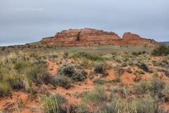 Steamboat Rock profile (Chief Bwana) Tags: arizona utah ut butte az steamboatrock navajosandstone pariaplateau psa104 chiefbwana
