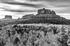 Cathedral Rock in B&W (TAC.Photography) Tags: arizona blackandwhite monochrome landscape sedona views vista cathedralrock