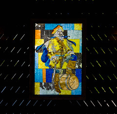 Captain Morgan stained glass (VMcIntyre77) Tags: travel cruise light vacation building stainedglass caribbean rum february bahamas halfmooncay captainmorgan 2016