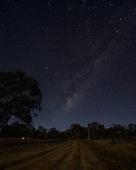 You don't have to go to the ends of the earth to capture the Milky Way (tree.twisted) Tags: night stars nightscape nightsky astral countryroad milkyway starlight nikon1424mmf28