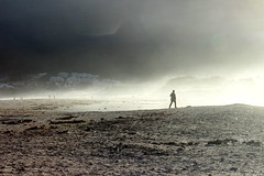The air that I breathe (Michele's POV) Tags: sunset sky seascape me nature water monochrome silhouette myself seaside twilight breath vista seaview lightanddark seaair seasand lighthaze seelight