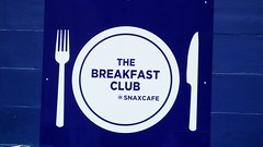 Breakfast Club (byronv2) Tags: blue colour sign scotland cafe edinburgh knife plate fork southside snax breakfastclub edimbourg