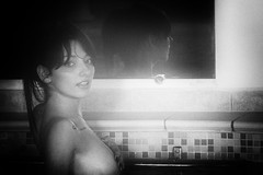 Noemi (gianfranco_corvino) Tags: bw woman sexy girl mirror mani piscina occhi lingua acqua bianco nero bocca noemi lanscape specchio nudo riflesso seno denti labbra