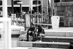 Lunchbreak (stefanobarabino) Tags: street friends people sunglasses canon photography graffiti young guys smoking genova talking lunchbreak portoantico 1200d