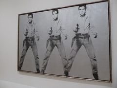 Andy Warhol - Triple Elvis [Ferus type] (c_nilsen) Tags: sanfrancisco california art museum digital sfmoma silkscreen andywarhol digitalphoto elvispresley sanfranciscomuseumofmodernart