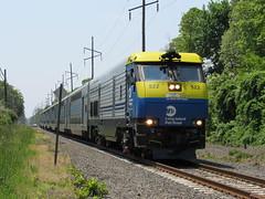 Leading Off The Summer Rush (Joseph Stroppel) Tags: railroad two sign island long branch diesel trains double bayport jamaica express dual montauk friday mode lirr railfan decker emd 2736 speonk dm30ac
