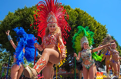 Carnaval-Dancers-24a (Nualchemist) Tags: 2016sanfranciscocarnavalparade festival event cultural multicultural latinculture performance dance parade mission carnaval colorful energy sanfrancisco annual annualevent street people explosive music rhythm men women children sexy feathers youngandold crowd documentation eventimage eventphotos song latin wild loud lively california missionstreet stphotographia purple blackandwhite ethnic gold aztecadancers nativeamericans smile joyful carnavalsf2016 carnavalsf