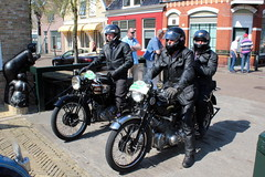 1950 Vincent HRD Rapide and 1937 Vincent HRD Comet A (Davydutchy) Tags: auto holland classic netherlands car bike bicycle automobile tour ride rally vincent may voiture motorbike bil motorcycle vehicle oldtimer frise motor rit comet paysbas friesland niederlande motorrad bolsward rapide hrd 2016 krad klassiek frysln elfstedentocht frisia vetern tocht automobiel cyclomoteur a boalsert