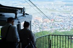 (  / Yorozuna) Tags: mountain silhouette japan cablecar   ropeway shiga omihachiman           aerialtram   hachimanyama       hachimanmountain pentaxautotakumar55mmf18   mthachiman mthachimanyama