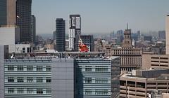 Ornge Air Ambulance (Jack Landau) Tags: city urban toronto ontario canada st buildings hospital downtown air ambulance helicopter michaels helipad ornge