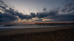 _DSC1485 (chriswheatley97) Tags: obx outer banks north carolina nags head fishing pier morning sunrise ocean beach sand clouds sun