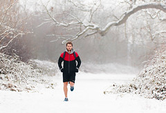 Snow Run (Nomadic Vision Photography) Tags: running carl determined fitness travelphotography jonreid runninginthesnow tinareid httpnomadicvisioncom winterfitness