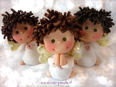 angelscarlavell (marytempesta) Tags: angels weddingcaketoppers fimoangels paololivornosfriends polymerclayweddingcaketoppers angeliconalifluorescenti angelifattiamano angelswithfluorescentwings