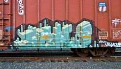 Ich (TheHarshTruthOfTheCameraEye) Tags: california train circle t graffiti pacific union yme unionpacific northern ich freight ichabod circlet benching