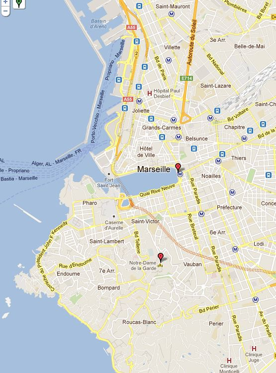 Marseille-Map