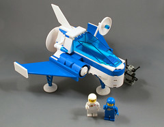 Snub Dart (halfbeak) Tags: blue white fighter lego minifig blueandwhite moc classicspace swooshable