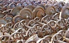 Keep on Rolling (**El-Len**) Tags: africa railroad geometric graveyard wheel iron industrial steel patterns rail ethiopia gettyimages eastafrica fav10 diredawa thegalleryoffinephotography