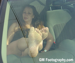 GM Footography (GM Footography) Tags: cars women posing mature barefeet dashboard soles