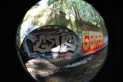 (emerica29) Tags: santacruz water wall graffiti moss goreb tunnel gevs