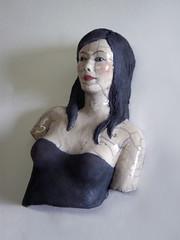 buste-mars 037 (Melanie Bourget) Tags: sculpture femme raku ceramique buste