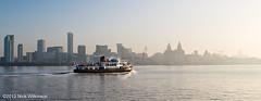 Ferry to Liverpool (Nick Wilkinson, Merseyside) Tags: morning winter water ferry liverpool haze waterfront pierhead rivermersey