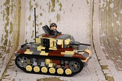 'Dirty DAK' Panzer III of the  Panzerjger-Abteilung 39 (Florida Shoooter) Tags: tank lego german ww2 dak panzeriii dirtydak