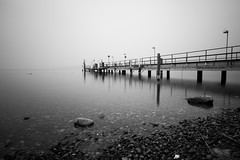 24 seconds @ lake zurich . switzerland (Toni_V) Tags: longexposure sea bw monochrome schweiz switzerland see pier blackwhite suisse zurich perspective rangefinder filter zrich minitripod 2012 m9 120304 zrichsee novoflex 21mm lakezurich tiefenbrunnen sep2 flickrsbest heliopan superaplus aplusphoto flickraward toniv sundaymorningphototour leicam9 nd15 basicball superelmarm mygearandme mygearandmepremium l1006319 mygearandmepemium