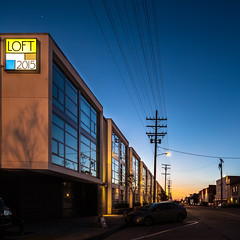 LOFT 2015 (Chimay Bleue) Tags: california street old blue sunset architecture loft train buildings paul design town twilight san industrial apartments trolley ivan diego row midtown southern architect socal hour produce condos residence lofts heure bleue specialty pauly leasing debartolo rimanic dbrds